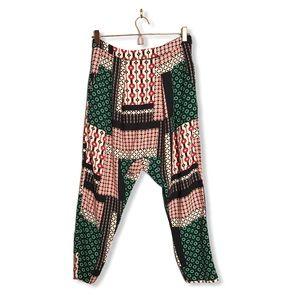 Forever 21 | Boho Drop Crotch Patchwork Crop Pants